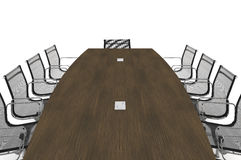 Conference Table-3d illustration Stock Photography