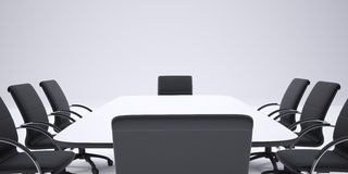 Conference table and black office chairs. Cropped Royalty Free Stock Photos