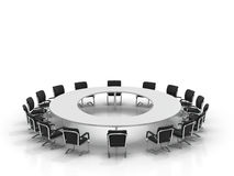 Conference table and chairs Stock Photography