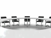 Conference table and chairs Royalty Free Stock Images