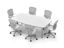 Conference table with chairs Stock Photos