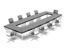 Conference table  with chairs Royalty Free Stock Images