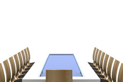 Conference table with chairs Royalty Free Stock Photo