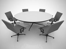 Conference table and chairs in meeting room Stock Photos
