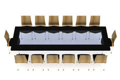 Conference table with chairs Stock Photography