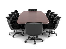 Conference table and chairs Royalty Free Stock Photography