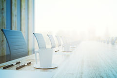 Conference table closeup Royalty Free Stock Images