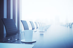 Conference table closeup Stock Image