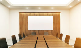 Conference table closeup toning Royalty Free Stock Images