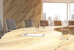 Conference table closeup Royalty Free Stock Photography
