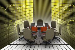 Conference table Royalty Free Stock Photo