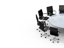 Conference Table with Copy Space Royalty Free Stock Photo