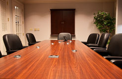 Conference Table from End Royalty Free Stock Images