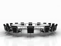 Conference table isolated on white background Royalty Free Stock Photo
