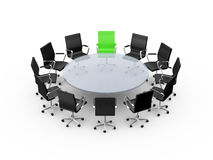 Conference Table with Leadership Royalty Free Stock Photography