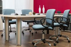 A conference table Royalty Free Stock Images