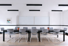 Conference table in modern office