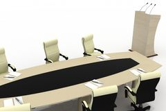 Conference Table for modern office Stock Photo