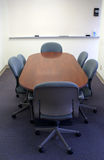 Conference table in office. Meeting or conference table waiting for employees Royalty Free Stock Photos