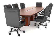 Conference table and office chairs Stock Images