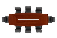 Conference table and office chairs Royalty Free Stock Photos