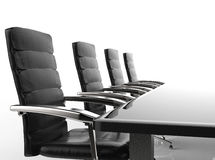Conference table and office chairs. 3d rendering empty conference table and office chairs Stock Photo
