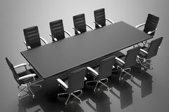 Conference table and office chairs. 3d rendering empty conference table and office chairs Royalty Free Stock Photography