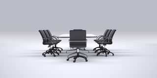 Conference table and office chairs Royalty Free Stock Photography