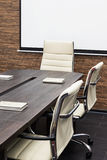 Conference table with the screen Stock Photography
