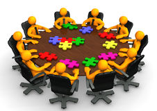 Conference Table Teamwork Stock Photo