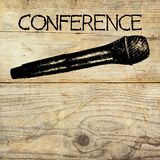 Conference template illustration Stock Photography