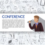 Conference template illustration Stock Photo