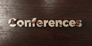 Conferences - grungy wooden headline on Maple  - 3D rendered royalty free stock image Royalty Free Stock Photography