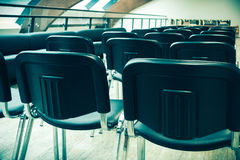 Conferences hall prepared for seminar Royalty Free Stock Photo