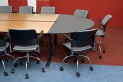 Conferences room. Strict design and convenient furniture specially for a room of conferences Stock Photos
