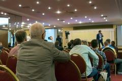 Conferencia de asunto Imagenes de archivo