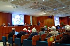 Conferencia del europeo dejado en Roma Fotografía de archivo