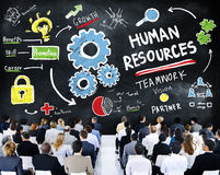 Conferencia del seminario del negocio del trabajo en equipo del empleo de los recursos humanos Imagen de archivo