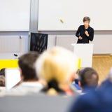 Conferencia en la universidad Imagen de archivo libre de regalías