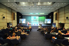 Conferencia Internacional de la medicina 2012 de la industria de la atención sanitaria Imágenes de archivo libres de regalías