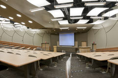 Conferencia pasillo de la universidad Fotografía de archivo