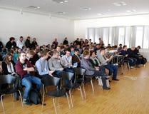 Conferentie stock afbeeldingen