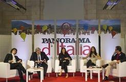 Conferentie met crucianipaone, Emiliano, marocco, chirico stock fotografie