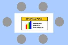 Conferentie over een Businessplan van Vogel` de s-oog Mening stock illustratie