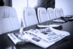 Conferentieclose-up royalty-vrije stock afbeelding