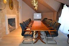 Conferentieruimte met open haard Royalty-vrije Stock Foto