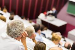 Conferenza all'università Immagini Stock