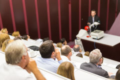 Conferenza all'università Fotografia Stock