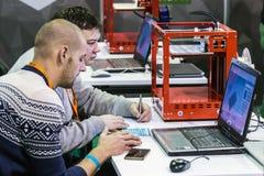 Conferenza internazionale e mostra dello scann di stampa 3D Fotografia Stock Libera da Diritti