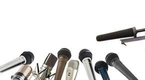 Conferenza stampa Fotografie Stock Libere da Diritti